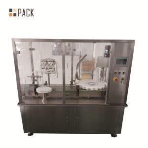 Riempitrice e tappatrice per vasetti di crema per lozioni 10g-100g per l'industria cosmetica