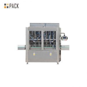 Imbottigliatrice a gravità a 10 teste con controllo PLC per detergente per candeggina da 1 - 5 litri