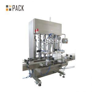 Riempitrice automatica a 6 teste 500ml-5L con servosistema per crema con controllo PLC trasportatore