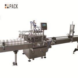 6.5kw Power Automatic Liquid Filling Line 20 – 50 Bottles / Min Capacity