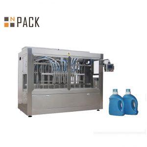 Riempitrice automatica di detersivo liquido, linea di riempimento di sapone liquido con riempimento a pistone