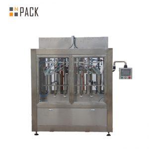 Linea di riempimento bottiglie più pulita con riempitrice per bottiglie a gravità anticorrosiva e tappatrice rotativa