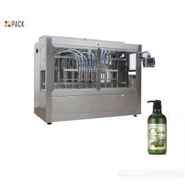 Linea di imbottigliamento automatica per shampoo con riempitrice servo, etichettatrice a doppio lato