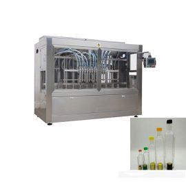 Linea di imbottigliamento liquida con tappatrice per bottiglie e doppia etichettatrice laterale