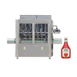 Riempitrice automatica a pistone per imbottigliamento per salsa di pomodoro